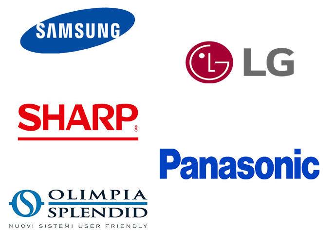 SAMSUNG, LG, SHARP, PANASONIC, OLIMPIA-SPLENDID
